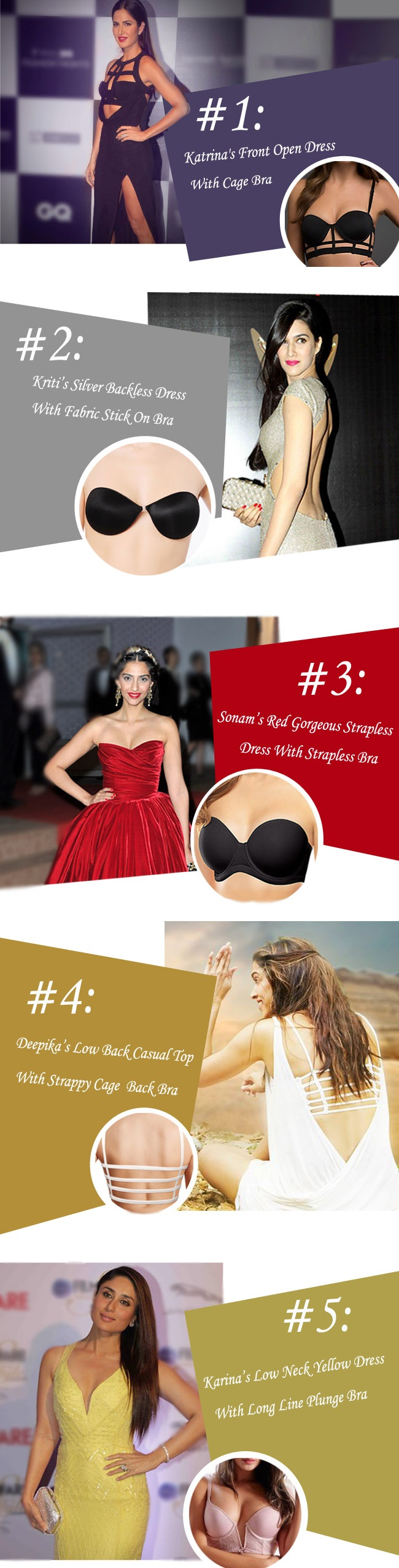 how to select right bra for different dresses