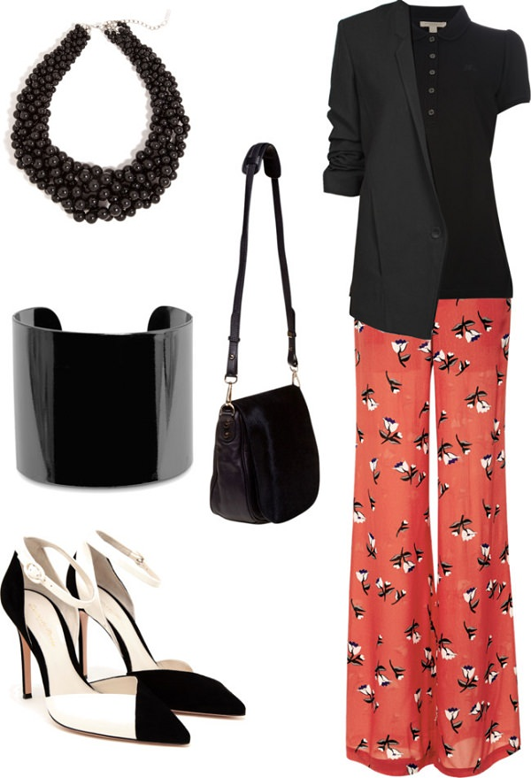 palazzo pants outfit idea