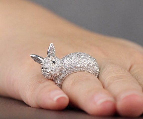 adorable rabbit ring