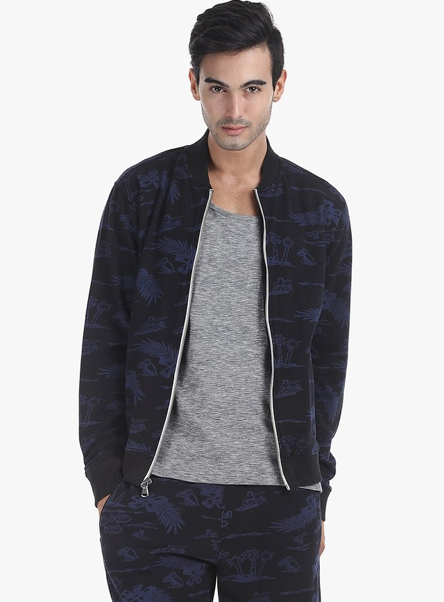 printed bomber jacket mens