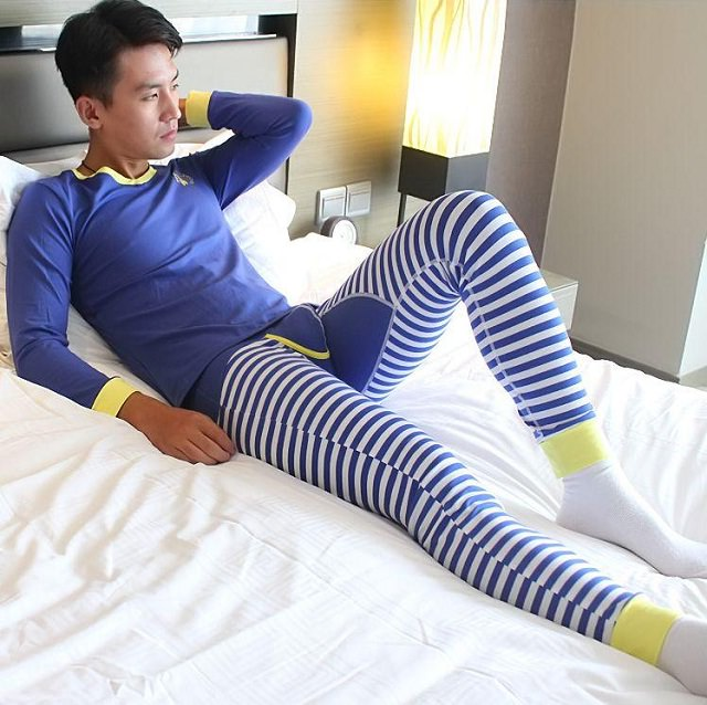 blue thermals for men