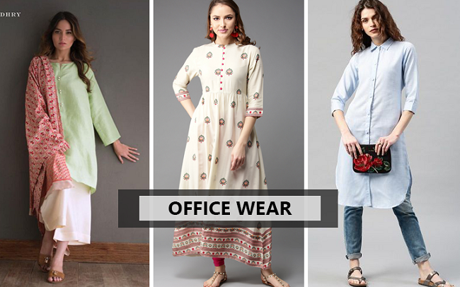 office wear kurti with palazzo suit
