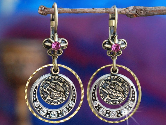 chic zodiac earrings