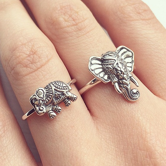 cute sterling silver elephant ring