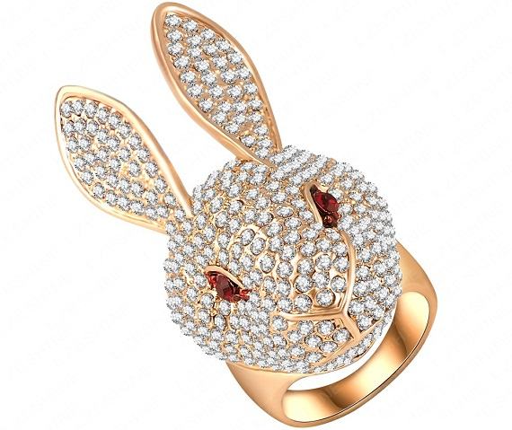diamond rabbit ring