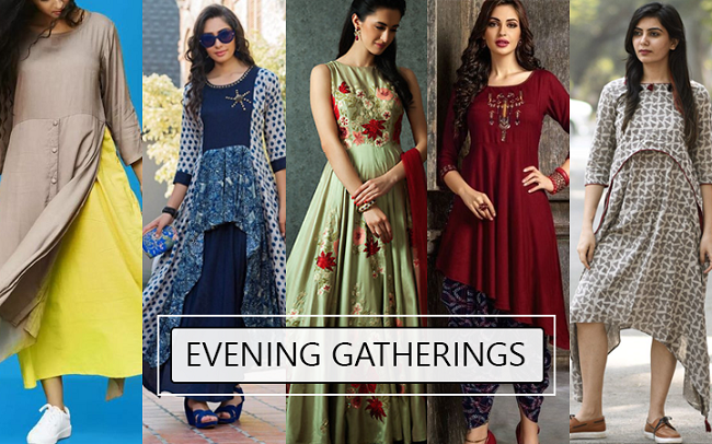 latest indian party wear style of kurtis