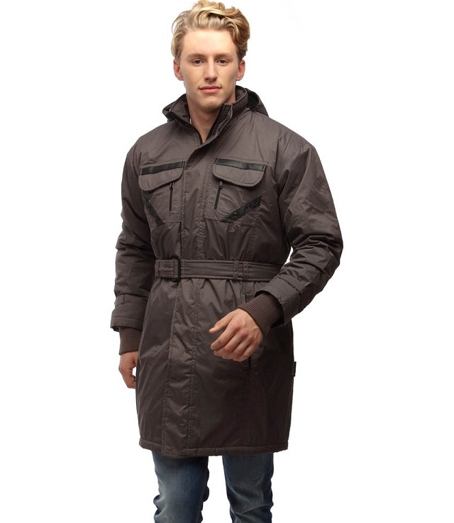 gray men trench coat
