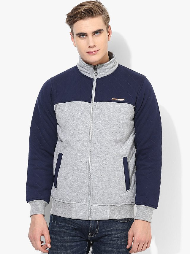 gray n blue sweat jacket for men, thermal lined sweat jackets