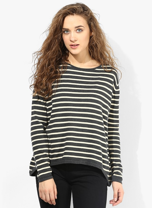 grey-striped-jumper, stylish jumpers for women