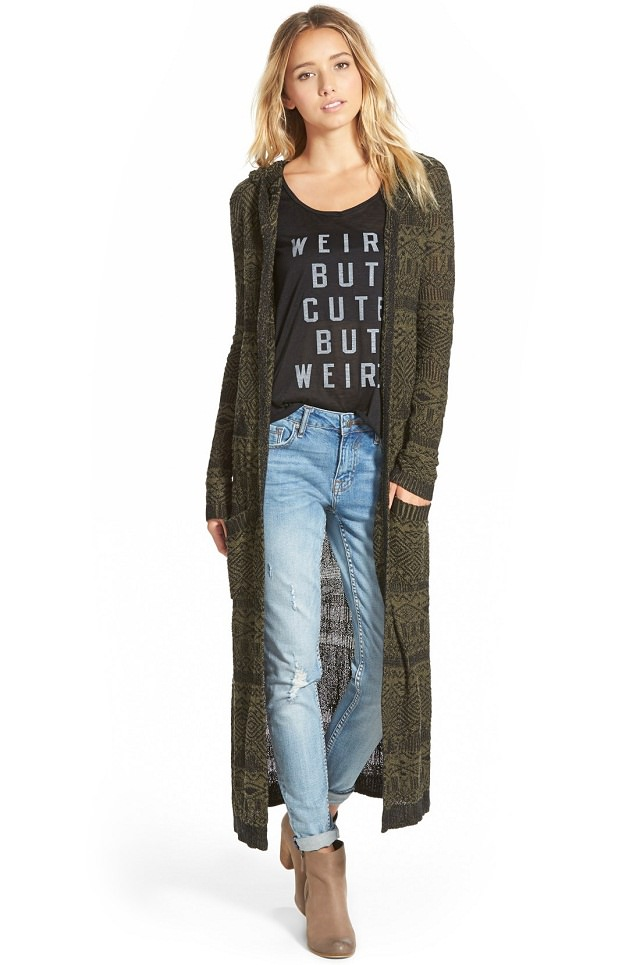 hooded-long-cardigan, winter wear for women, cheap winter clothes