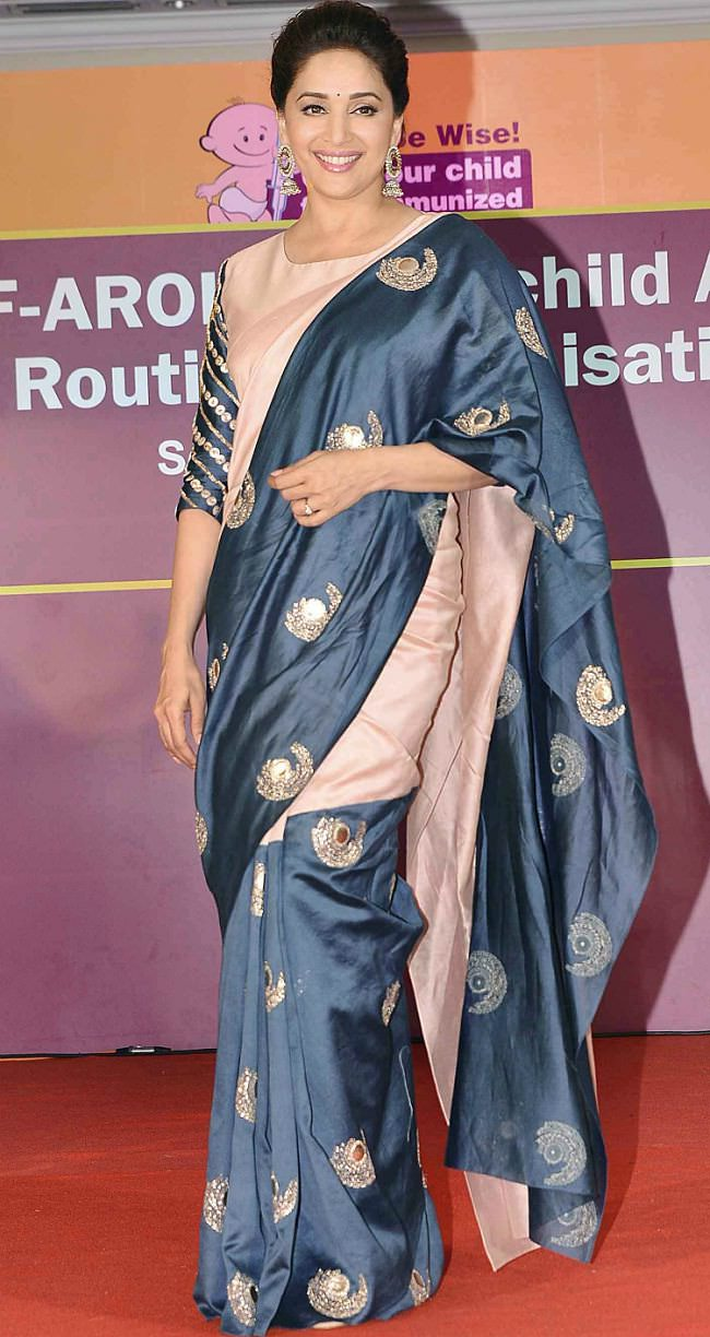 madhuri dixit in payal singhal saree
