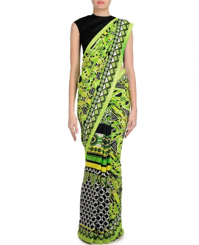 manish arora digital printed saree
