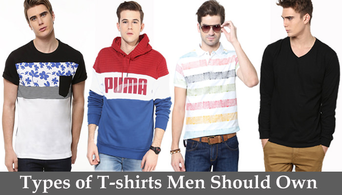 t-shirts types in men