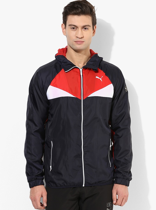 Puma navy blue men windcheater for men