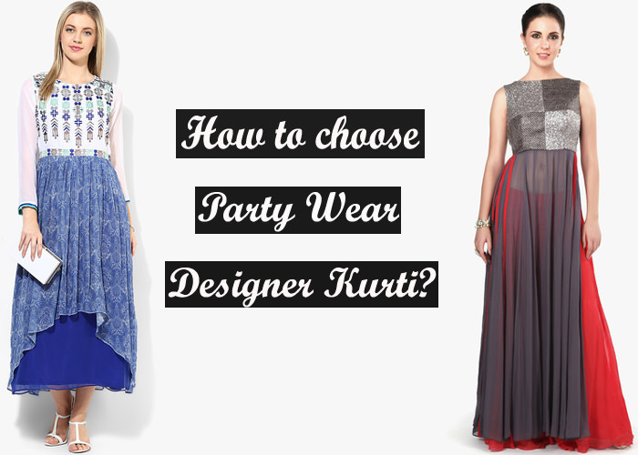 latest designer best party wear kurti for girls to wear in marriage and parties