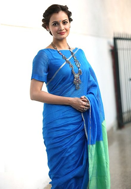 plain-saree-with-border