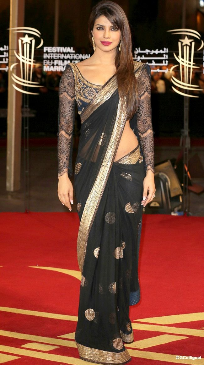 priyanka chopra in ritukumar saree