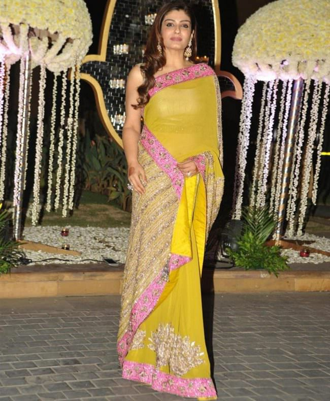 raveena tondon in manish malhotra saree