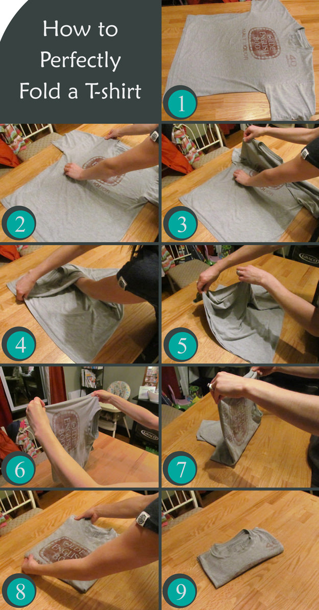 shirt-folding, easy way to fold a shirt