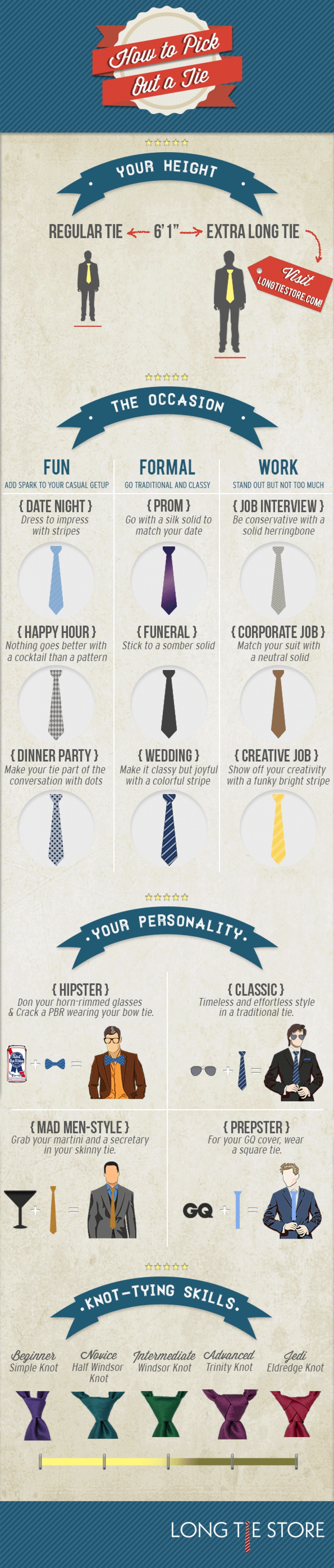 tie-selection-guide, how to pick the right tie for any occasion