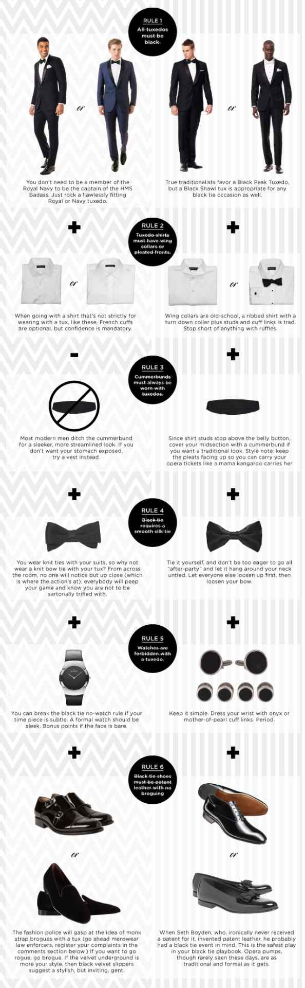 tuxedo rules, a guide to break all the black tie rules