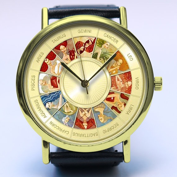 zodiac signs wrist watch