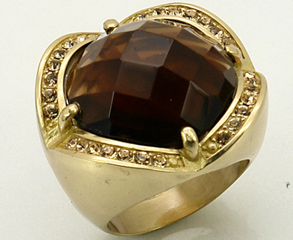 brown gemstone ring