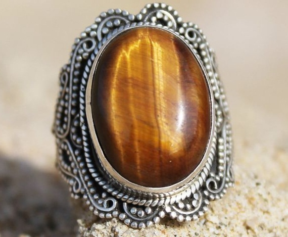 brown stone ring