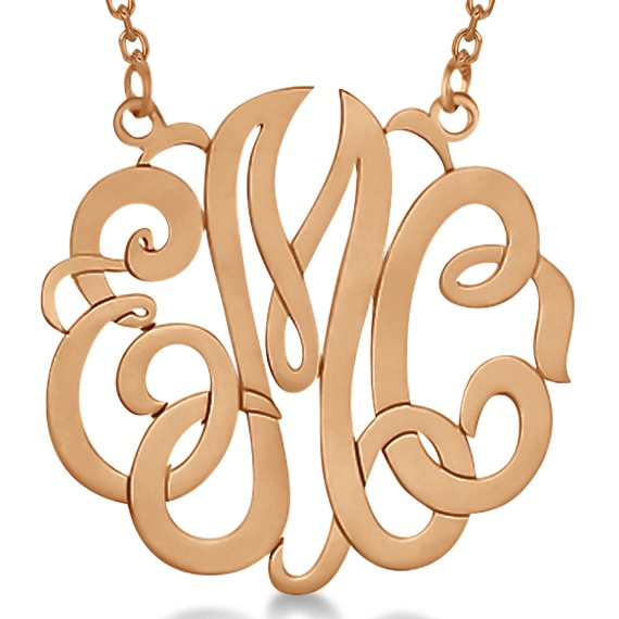 flourish monogram earrings