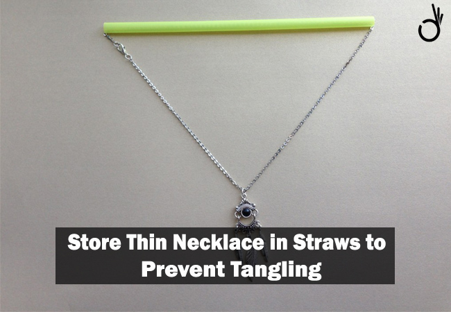 how to store necklaces without tangling, life hacks that make life easy