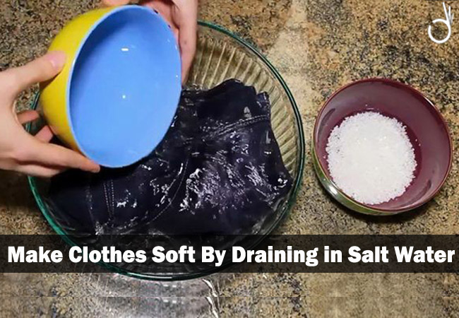 make clothes softer with salt, how to make your clothes soft