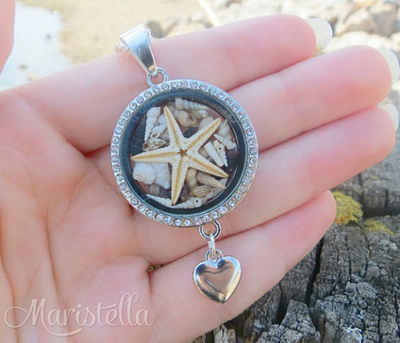 real seashell beach necklace