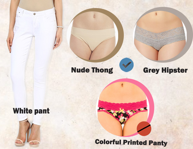 What color panties should black women wear underneath white clothing?