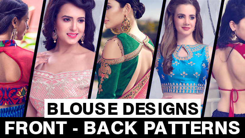 Saree Blouse Neck Front Back Designs