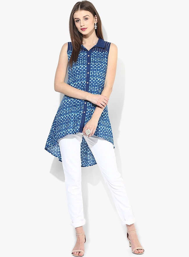 blue kurti with jeans