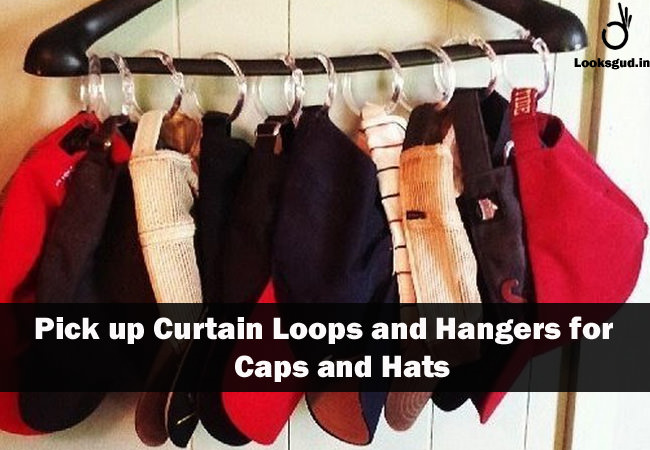 brilliant diy organization hacks to store Caps and Hats in small space effectively