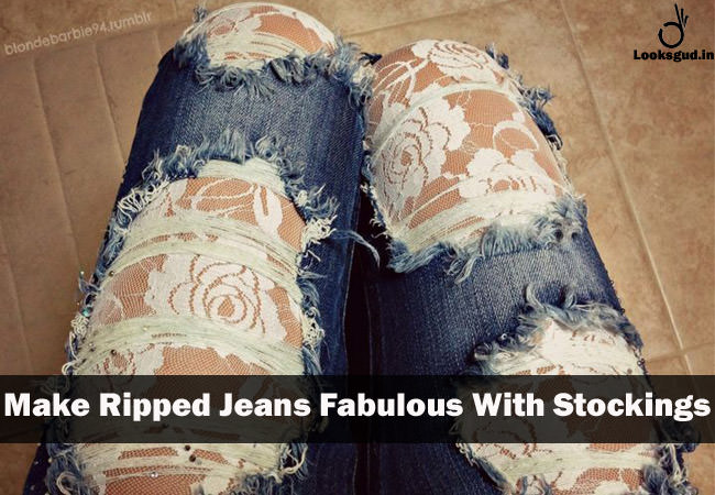 simple life hacks to use around the house for distressed denim jeans