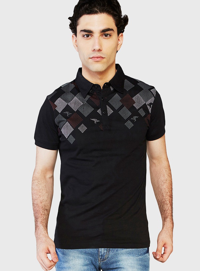 globus black polo t-shirt