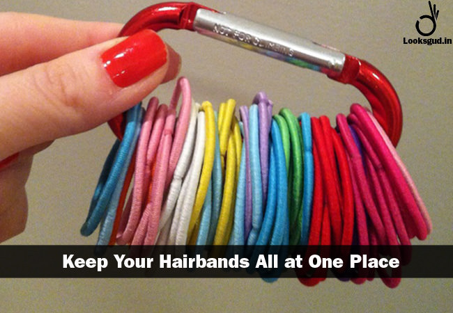 Simple and genius hacks to keep all hairbands at one place