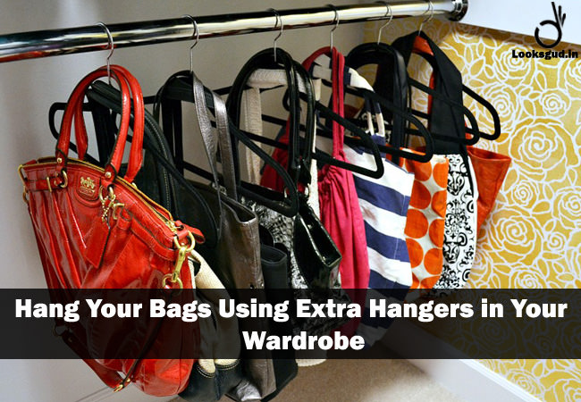 closet space hacks for bags