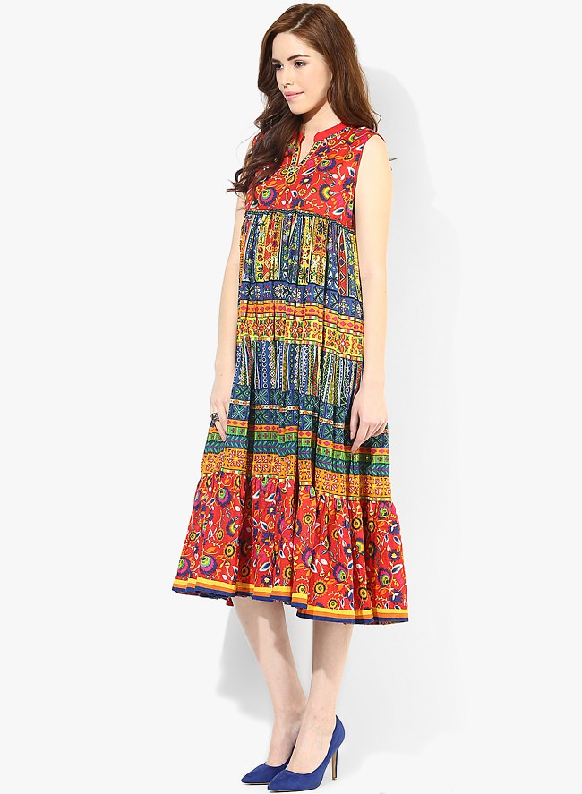 multicolor cotton kurti