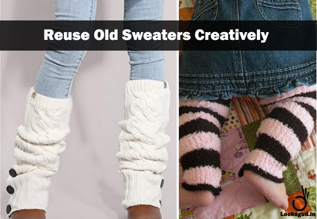 easy DIY hacks to recycle old sweater