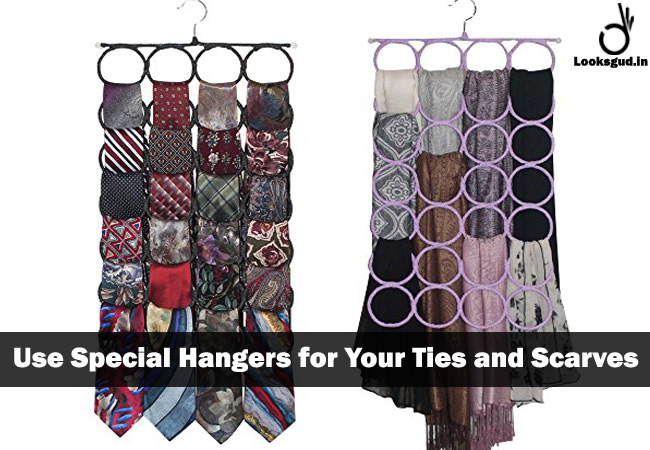 ties & scarves storage hacks for small spaces