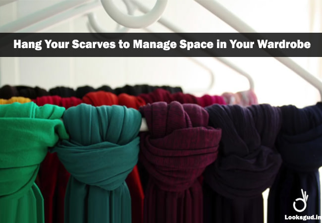 closet storage hacks to store scarves in minimum space
