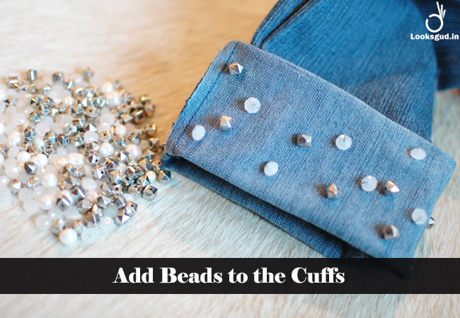 add beads to the cuffs