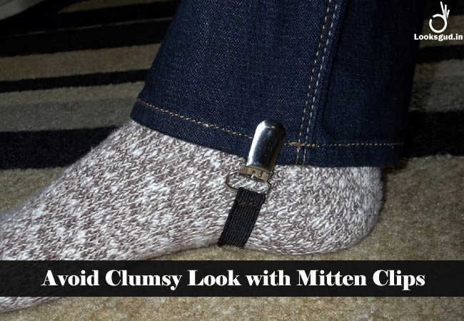 avoid clumpsy look with mitten clips