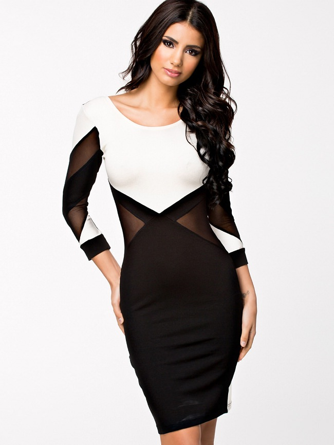 black & white pencil dress, what type of dress suits me