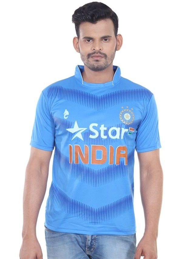 Bloomun Blue India Team Cricket t-shirt to support indian team in T20 World cup 2016