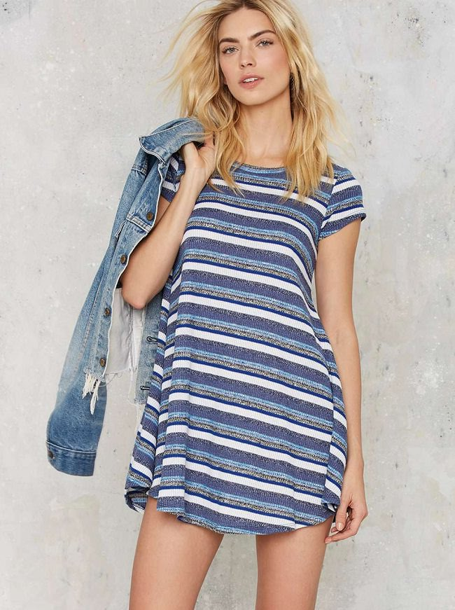 blue striped t-shirt dress, different types of dress in india