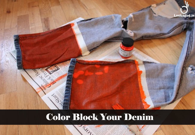 color block your denim